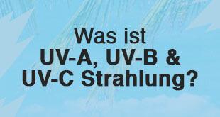 UV Strahlung in Bezug auf Solarium